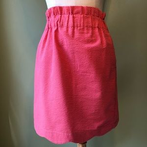 Lauren James Seersucker Paperbag Pocketed Skirt